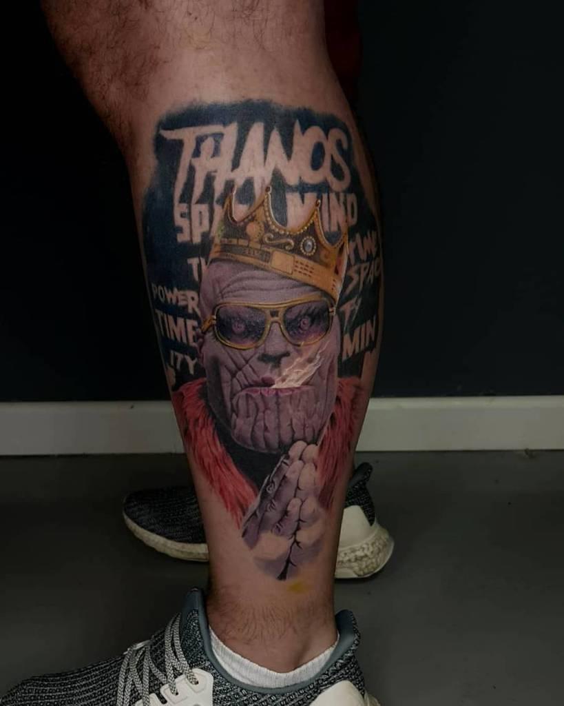 Colored Thanos Tattoo Ross Art Tattoo