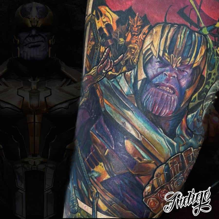 Colored Thanos Tattoo Tattoo.aindigo