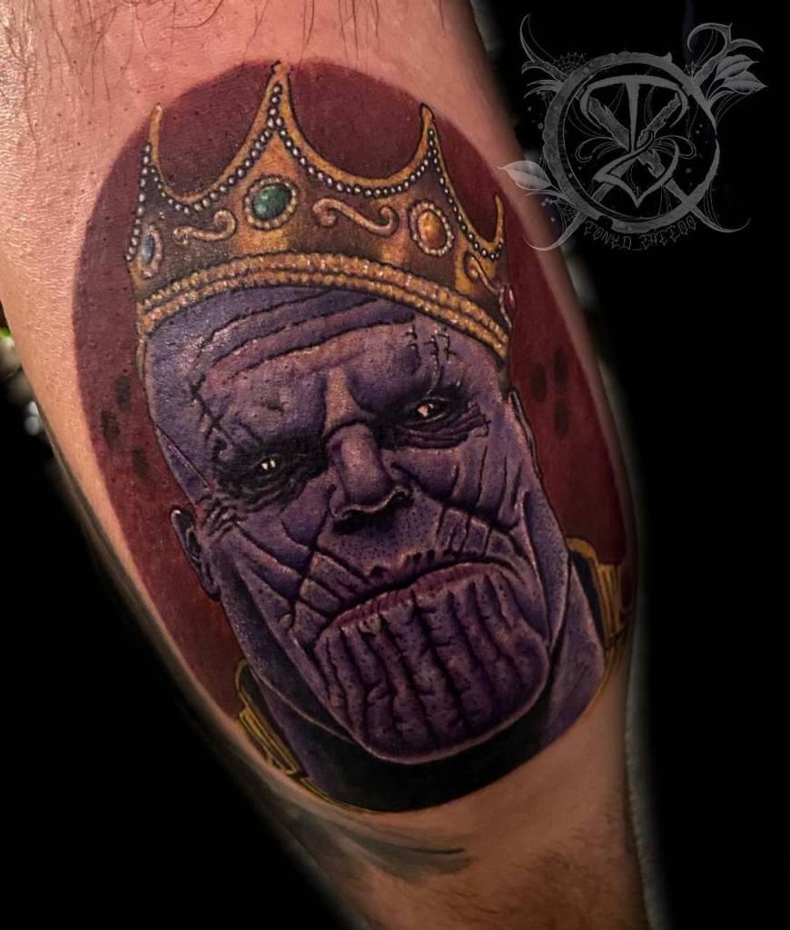 Colored Thanos Tattoo Tonyd Tattoo