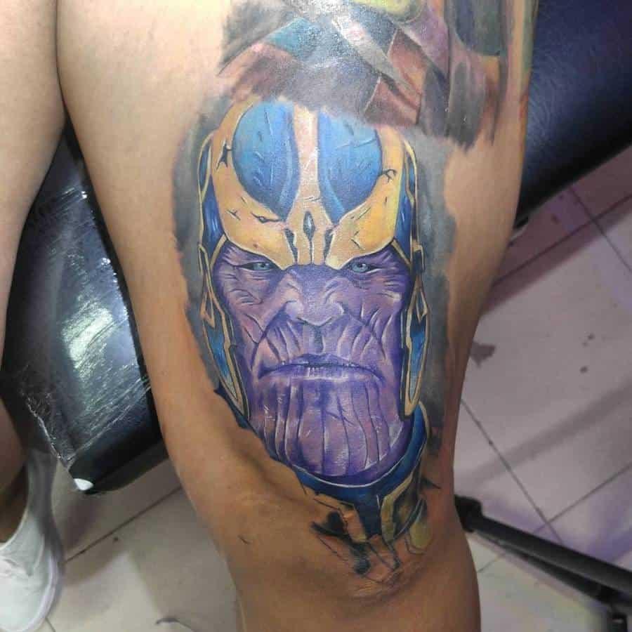 Colored Thanos Tattoo Yusergarcia