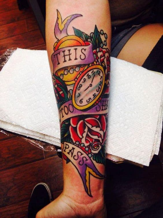 Colored Traditional Tattoo