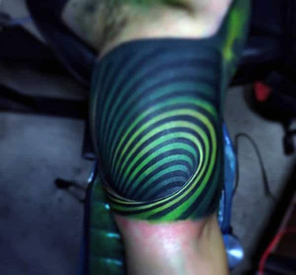 Colorful 3D Tattoo For Guys