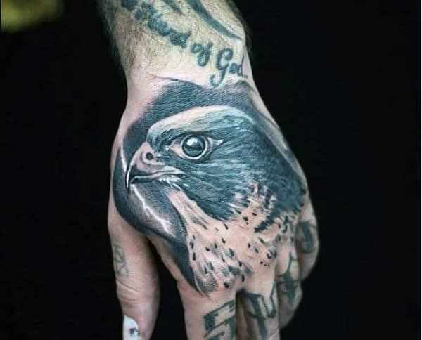 Colorful Bird Tattoos For Men Hand
