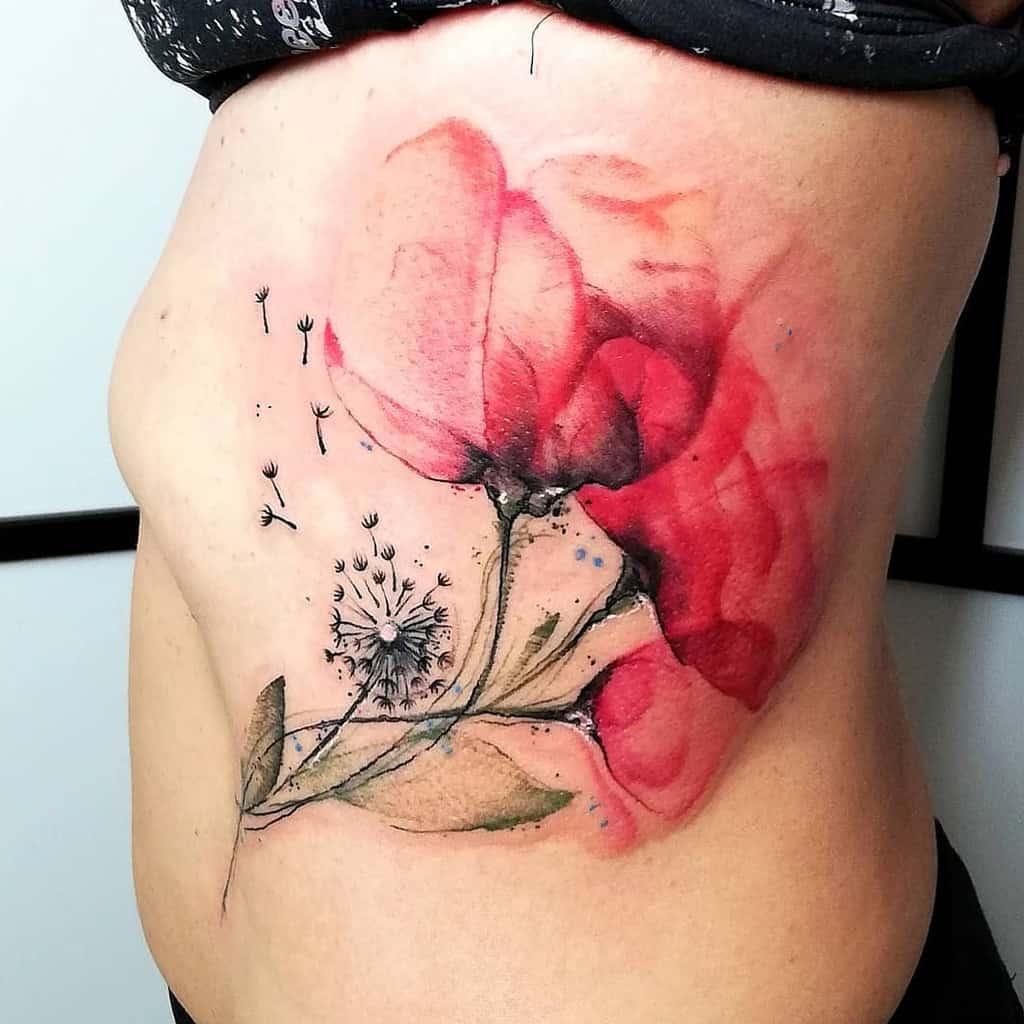colorful dandelion flower