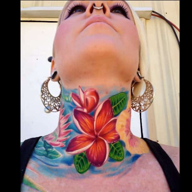 colorful-hawaiian-flower-tattoos-yazzyfizzle808