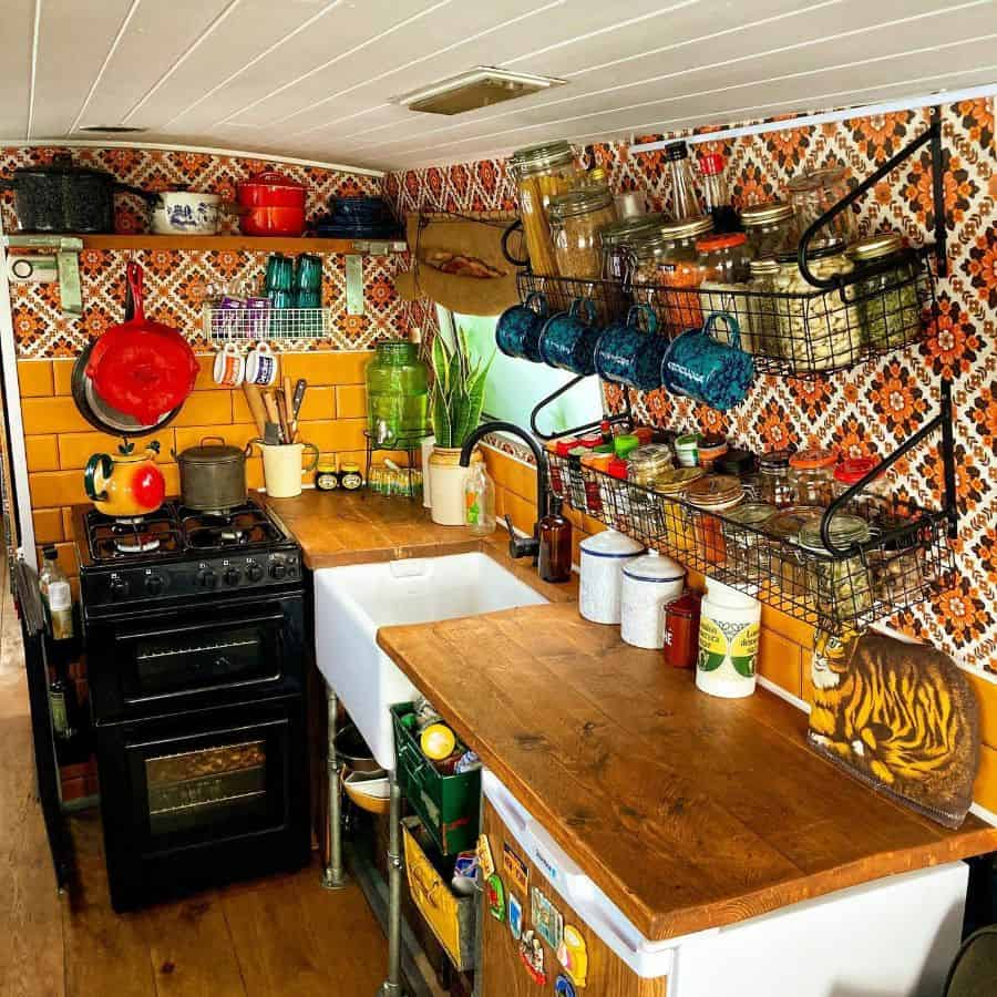 colorful kitchenette ideas windlass_and_tiller