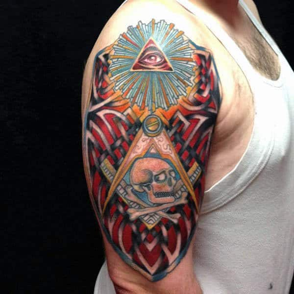 colorful-masonic-mens-arm-tattoo-design-