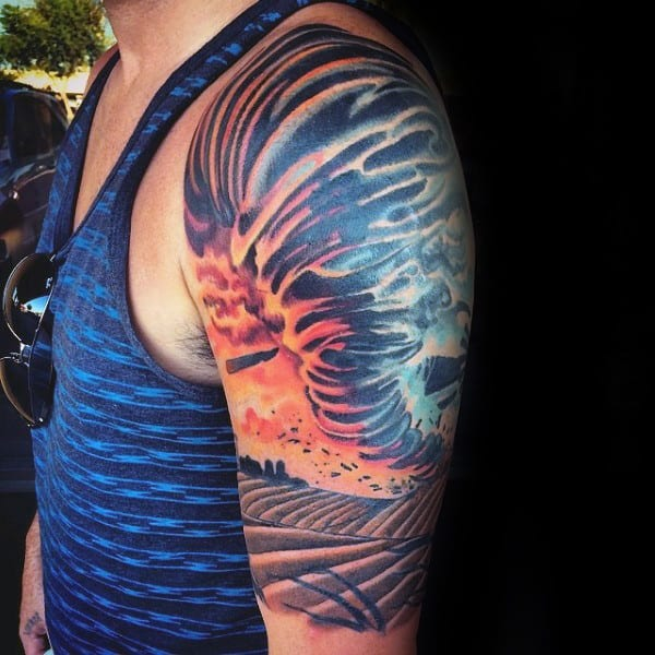 Farming Tattoo Designs : Tornado tattoo designs for men cool cyclone ink ideas