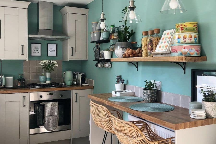 Colorful Small Kitchen Ideas Elm Terrace Interior