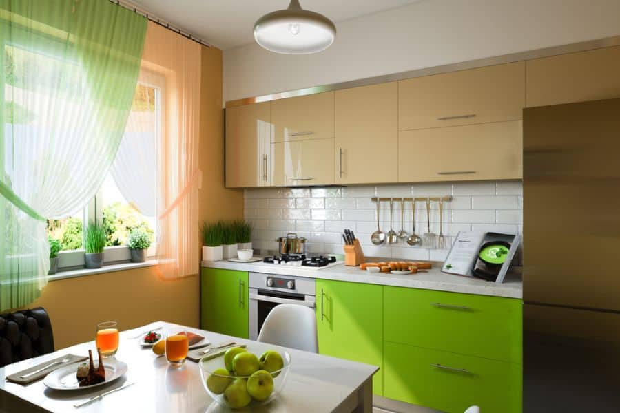 colorful tiny kitchen ideas