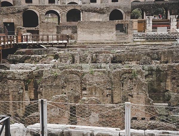 Colosseum Floor Detail Close Up