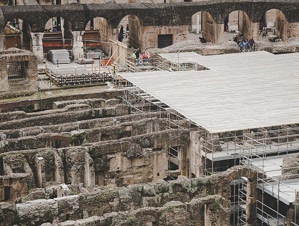 Colosseum Floor Up Close