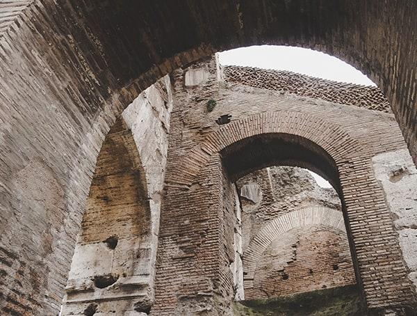 Colosseum Interior Stone Arches