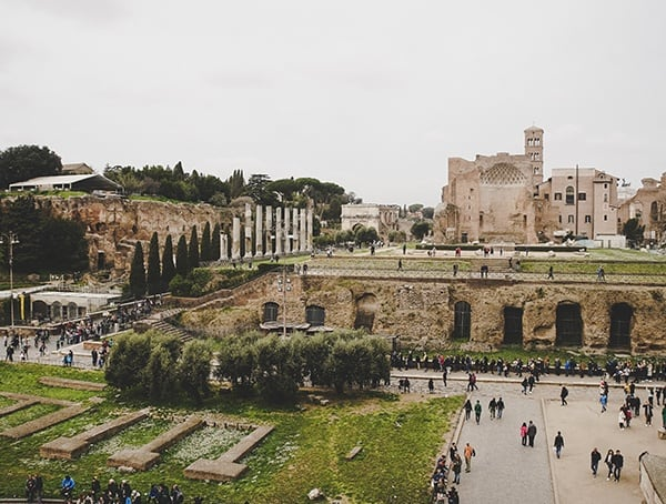 Colosseum Surronding Space Italy