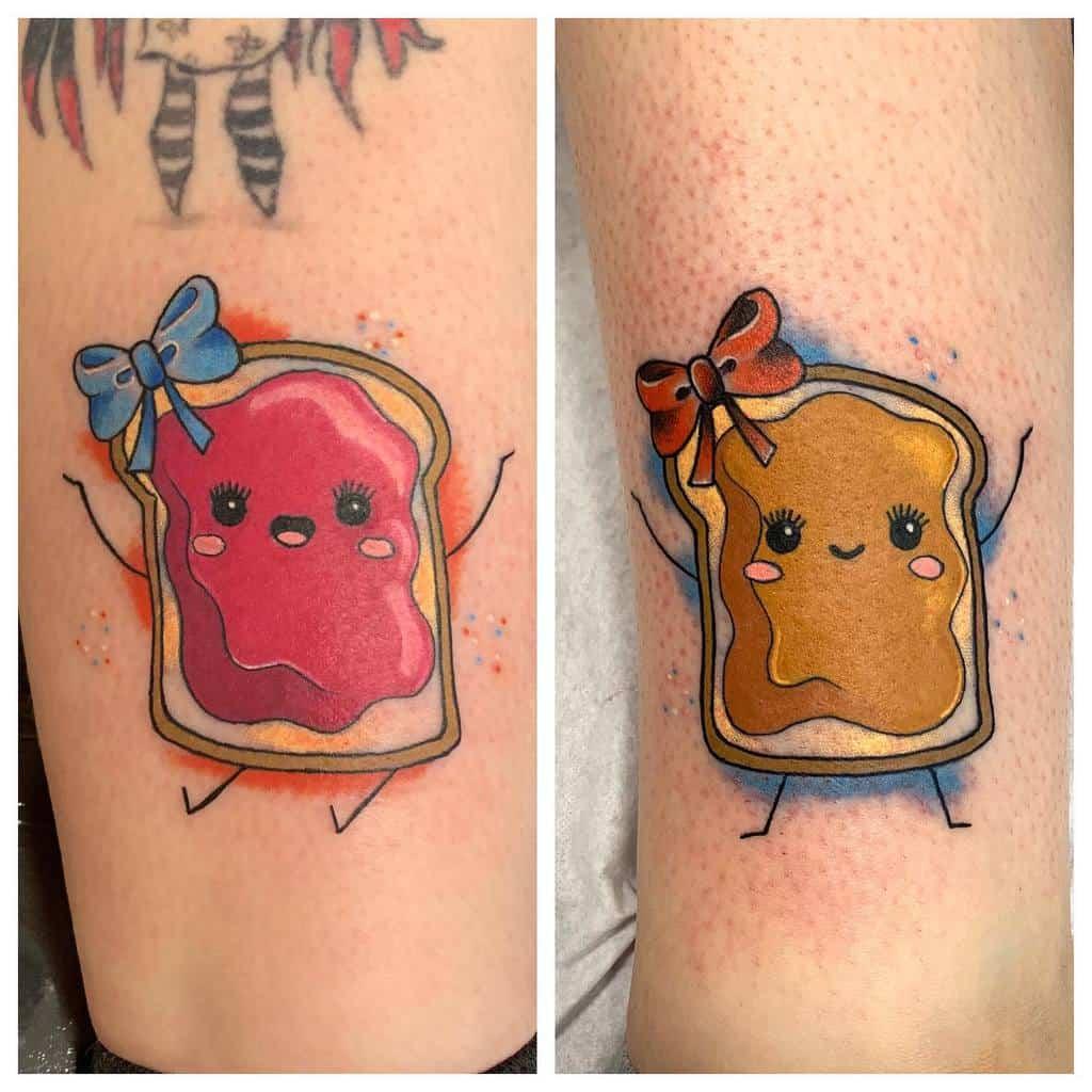 colour-flash-stencil-peanut-butter-jelly-sister-tattoo-chapelstreetcustom