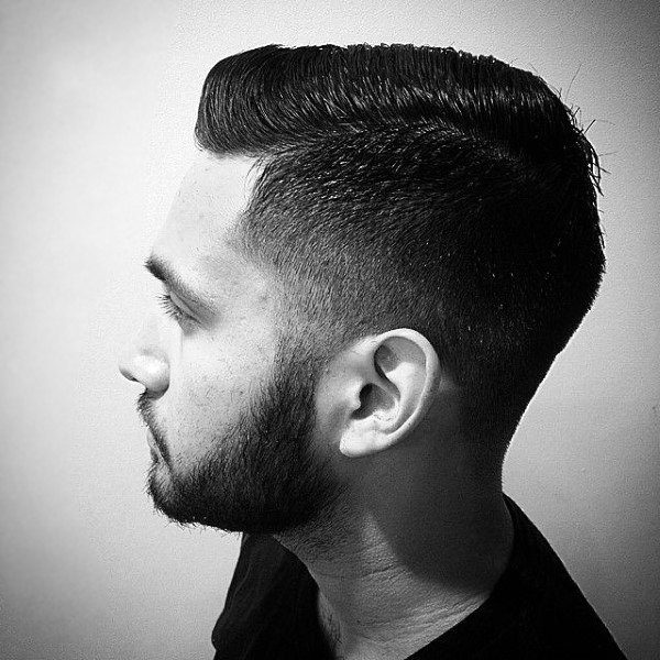 Comb Over Fade Haircut For Men With Low Fade On Sides