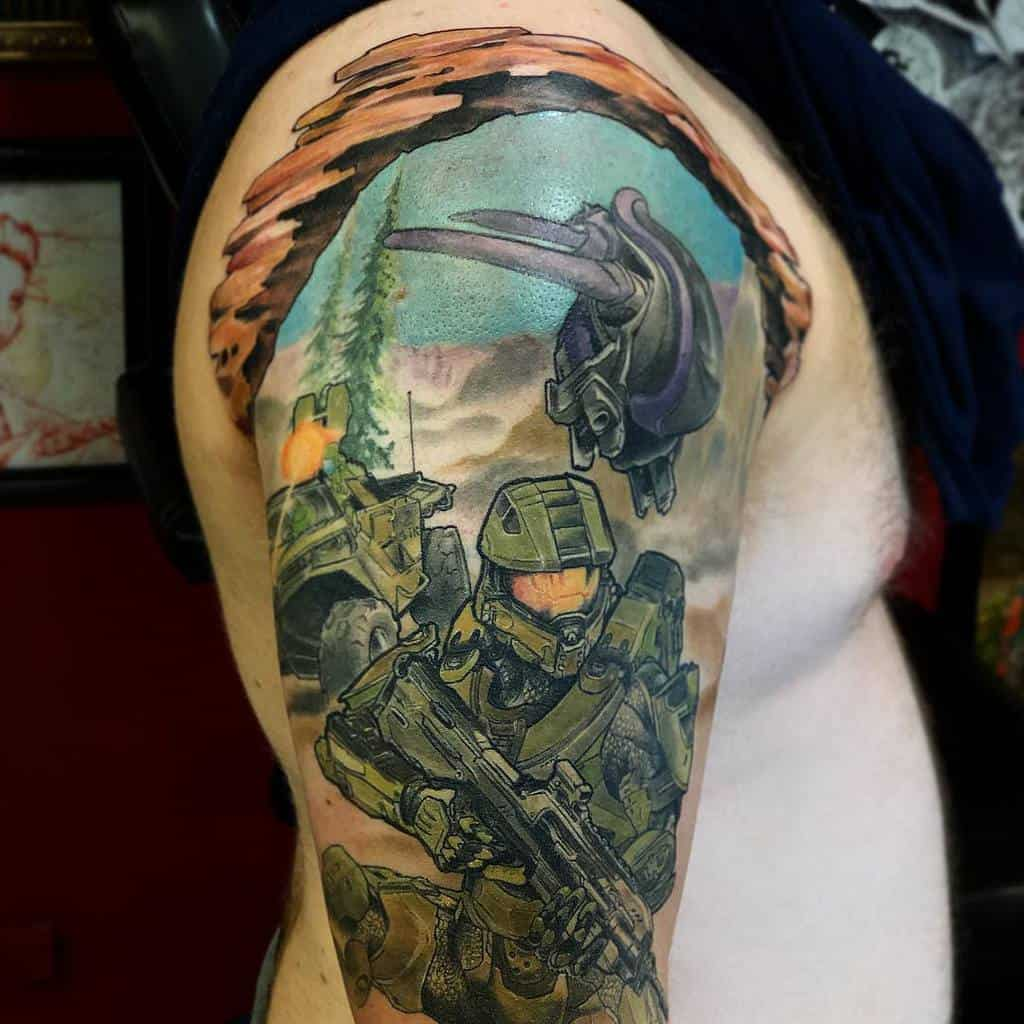 comic-hunter-gamer-halo-tattoo-rebelrouser313
