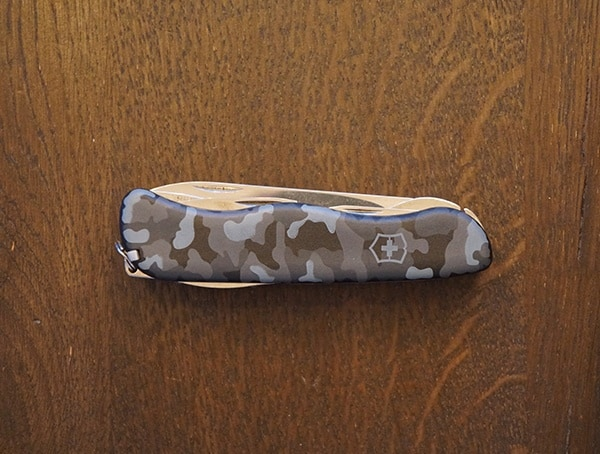 Compact Victorinox Skipper Navy Camouflage Pocket Knife Front View