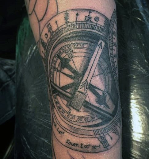 Compass Rose Tattoo For Men