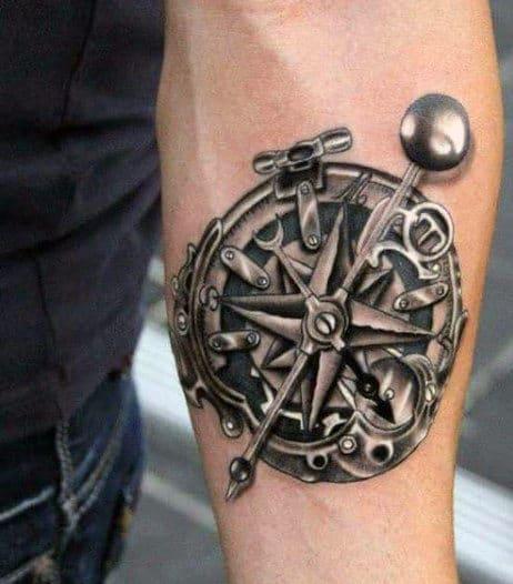 Compass Rose Tattoos For Men