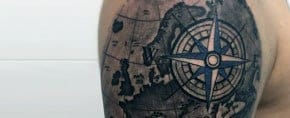Top 63 Compass Tattoo Ideas [2020 Inspiration Guide]