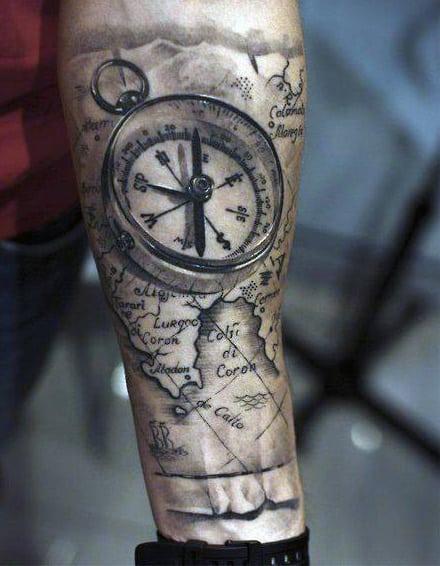 Compass Tattoo For Men