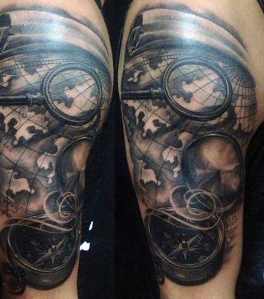 Compass Tattoo Ideas For Men