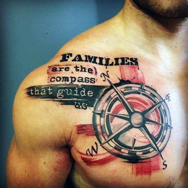 compass-with-family-quote-tattoo-mens-chest
