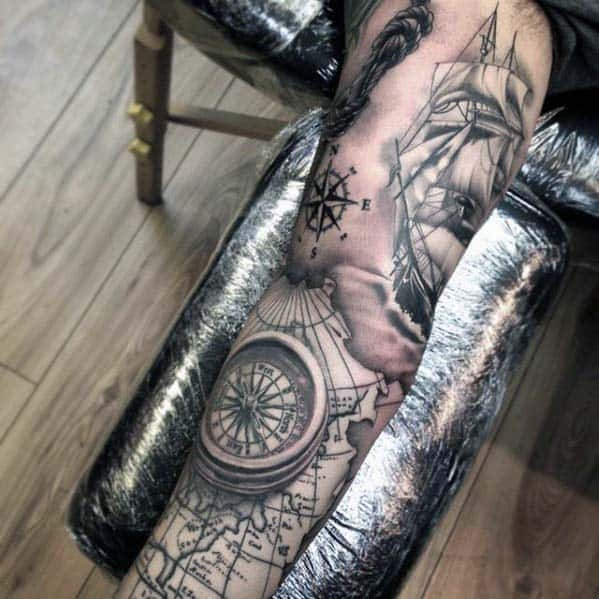 40 Nautical Sleeve Tattoos For Men