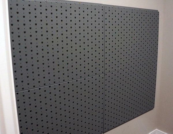 Completed Gallow Tech Wall Panel For Firearms Storage