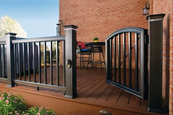 Composite Black Exceptional Deck Gate Ideas
