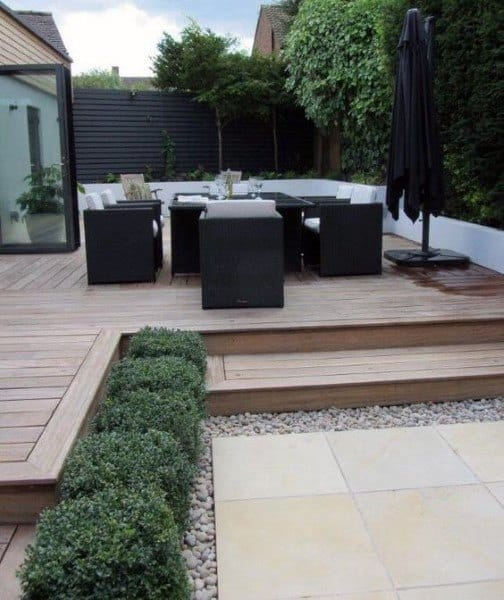 Composite Wood Look Backyard Deck Ideas