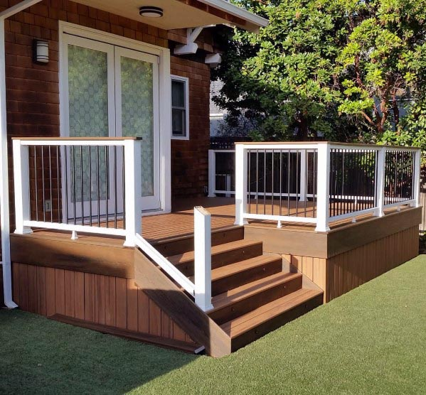 Composite Wood Look Deck Skirting Design Ideas