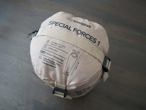 Compression Sack Top View Snugpak Special Forces 1 Sleeping Bags