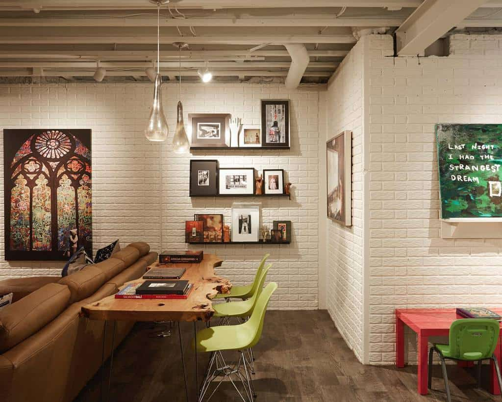 concrete basement wall ideas peabodysinteriors