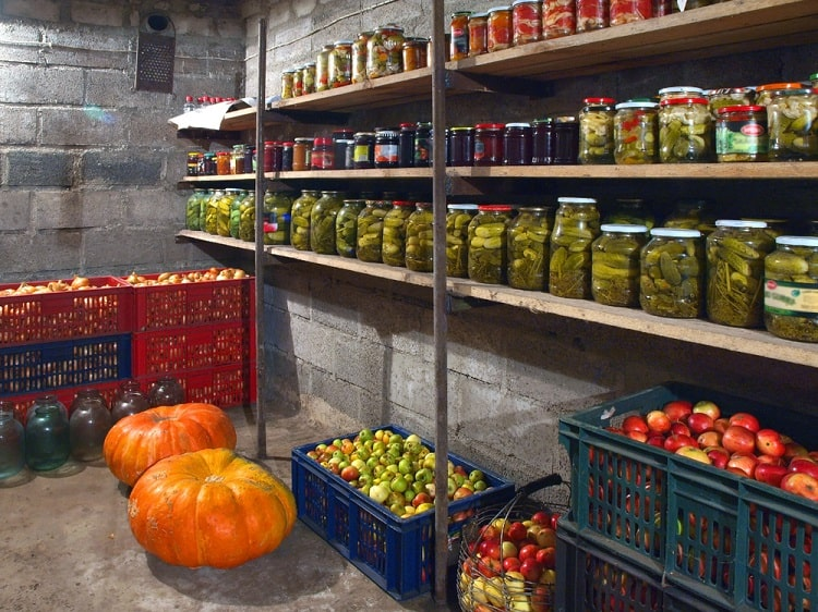 Concrete Cellar Basement Food Storage
