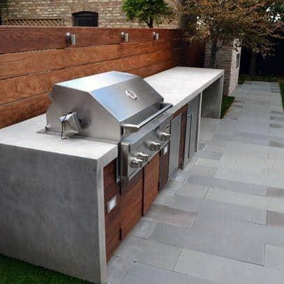 Concrete Countertop Backyard Ideas For Built In Grill