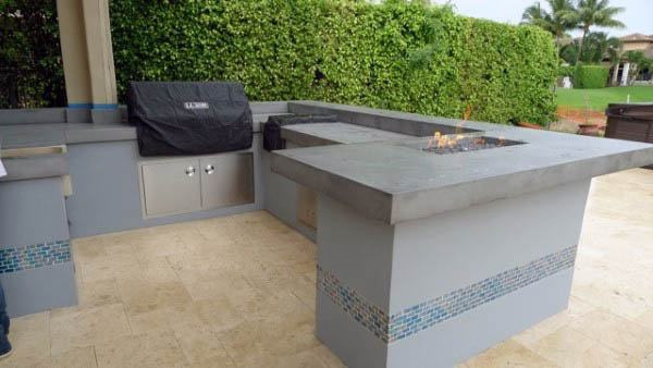 Concrete Countertops Outdoor Kitchen Ideas & Top 60 Best Outdoor Kitchen Ideas - Chef Inspired Backyard Designs