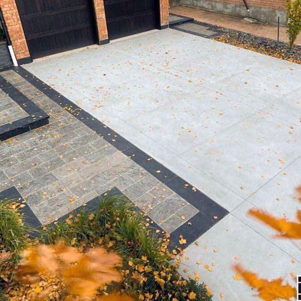Home Driveway Design Ideas: Top 50 Best Concrete Driveway Ideas