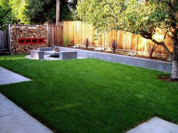 Concrete Fire Pit Cool Backyard Ideas