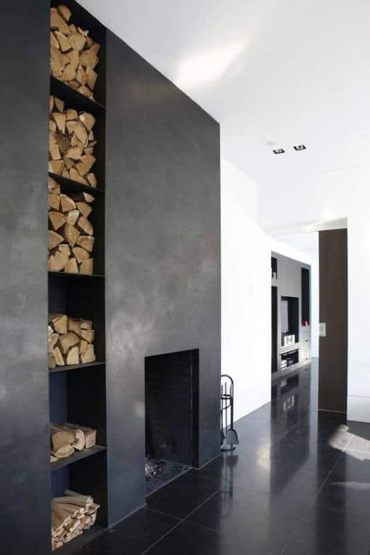 Concrete Fireplace Design Finish