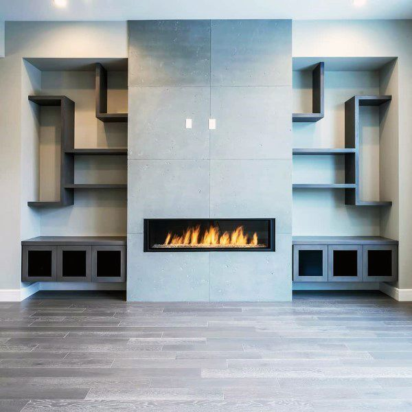 Concrete Fireplace Design Finishes