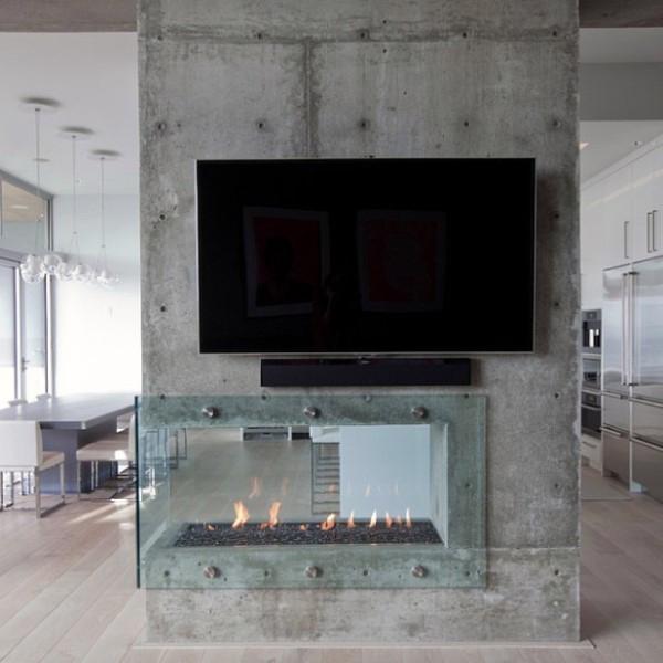 Concrete Fireplace Design Ideas