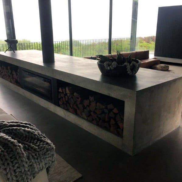 Concrete Fireplace Design Inspiration