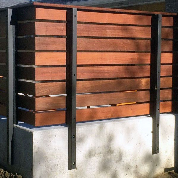 Concrete Metal And Wood Good Ideas For Modern Fence
