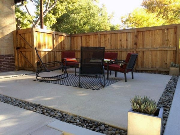 60 Concrete Patio Ideas - Unique Backyard Retreats on backyard water ideas, backyard building ideas, backyard wood ideas, backyard slate ideas, backyard gravel ideas, sloped backyard ideas, backyard landscaping ideas, backyard floor ideas, backyard pavers ideas, backyard rock ideas, backyard stone ideas, backyard construction ideas, backyard tile ideas, backyard sand ideas, backyard grass ideas, small backyard ideas, backyard furniture ideas, backyard food ideas, backyard paint ideas, backyard brick ideas,
