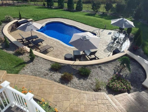 Concrete Patio Ideas Backyard With Pool