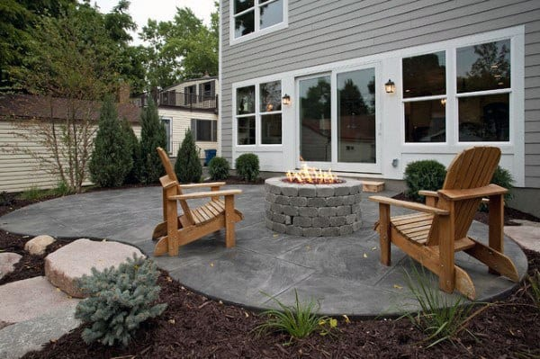 60 Concrete Patio Ideas - Unique Backyard Retreats