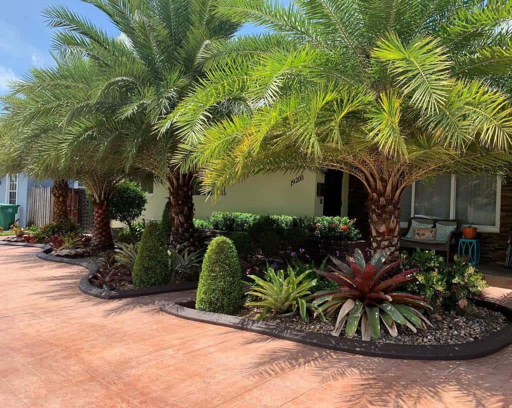 concrete render garden edging ideas miamiexclusiveborders