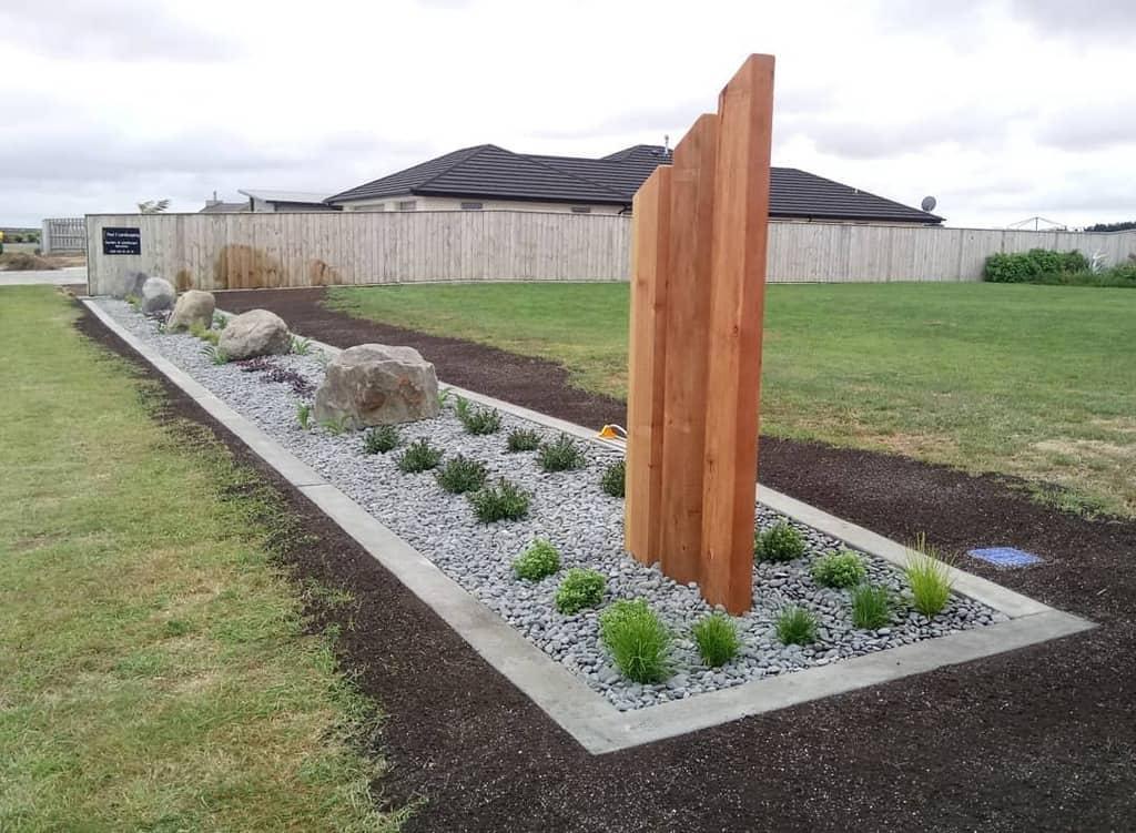 concrete render garden edging ideas pauljlandscaping
